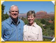 Judge and Holly Mason at home in Sedona
